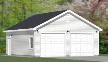 24x28 2 Car Garage 24x28g1 672 Sq Ft Excellent Floor Plans Diy Shed Plans Shed Plans
