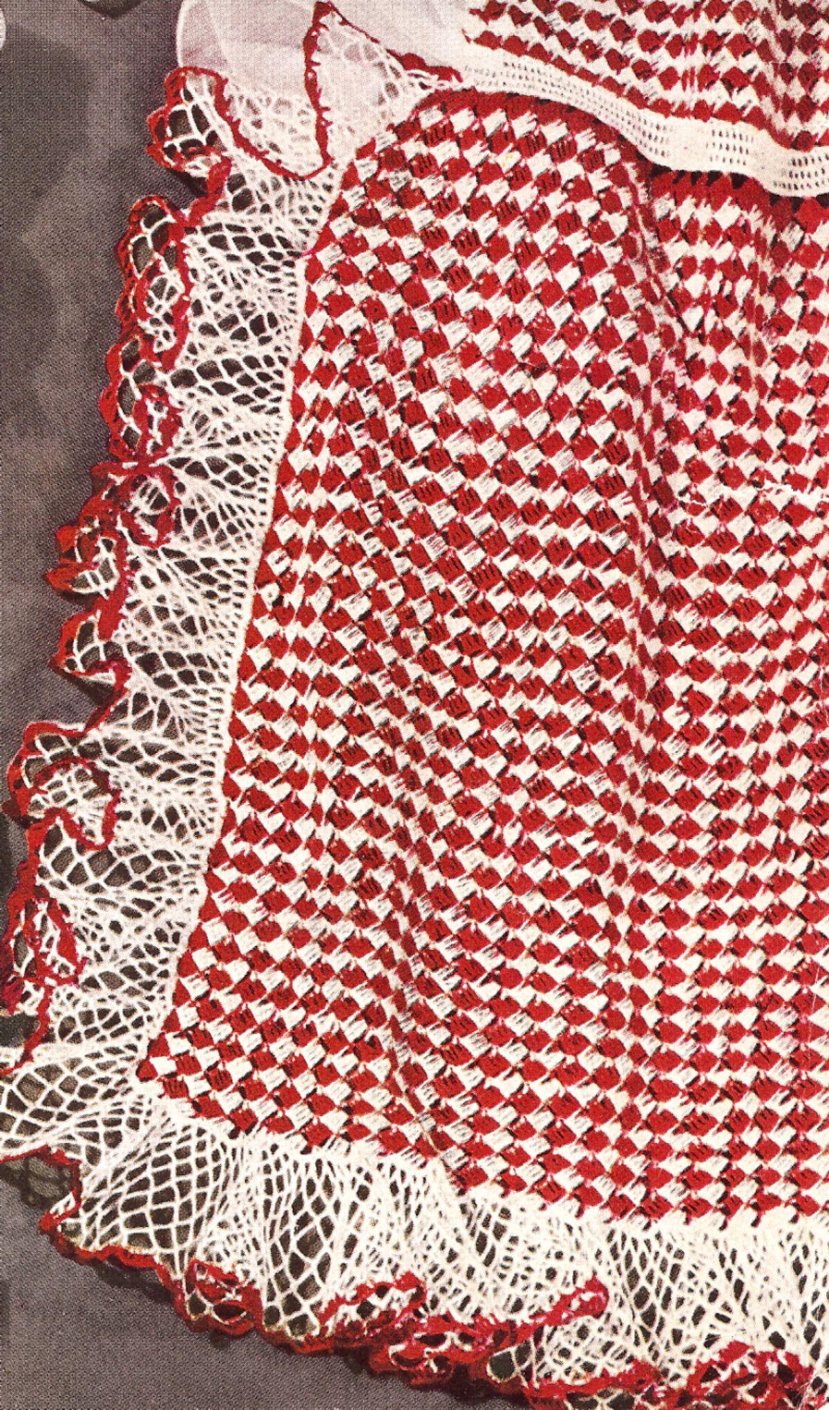 Vintage Ruffled Tea Apron Crochet Pattern | Aprons | Pinterest