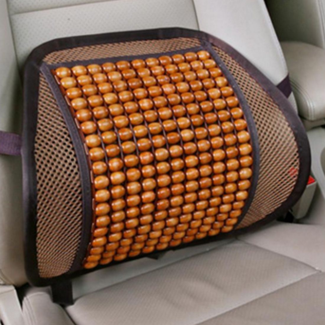 Hot selling car detector seat supports luxury wooden bead