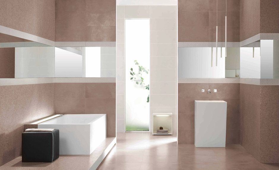 Carrelage de salle de bain Béton Ciré Tortora | PORTO VENERE ...