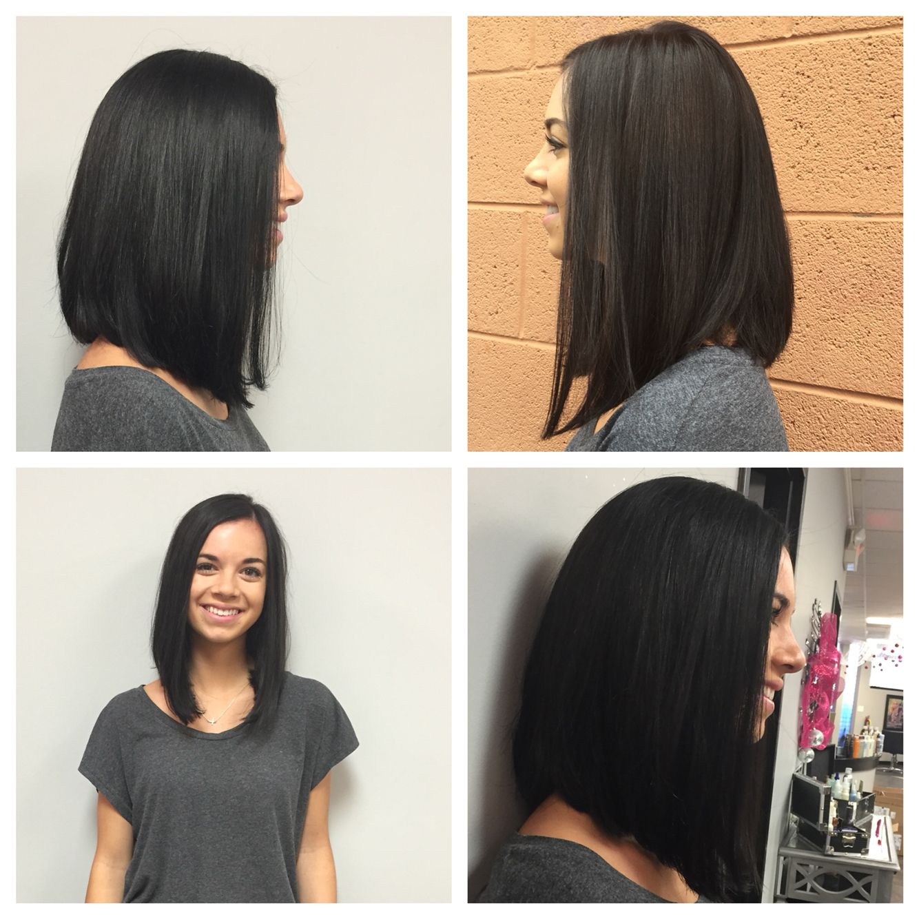 Long Angled Bob My Portfolio Pinterest Bobs Hair Style And
