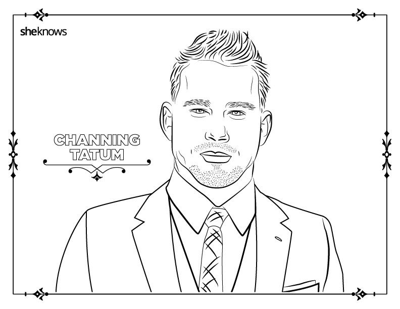 Printable coloring pages for guys ~ 32 adult coloring book pages of Hollywood's hottest men ...