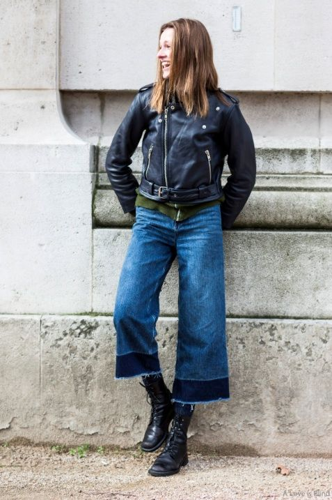 Cropped Jeans Boots Motorcycle Jacket Perfect Cropped Jeans Outfit Cool Girl Outfits Frayed Denim