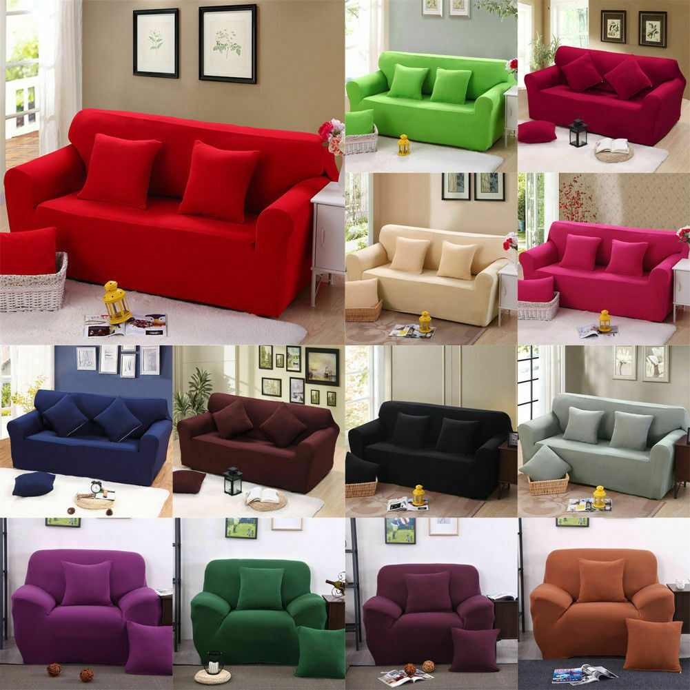 Stretch Chair Sofa Cover Protector Couch Cover Slipcover Fit For 1//2//3//4 Seater