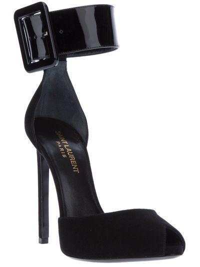 SAINT LAURENT Ankle Cuff Sandal | Heels