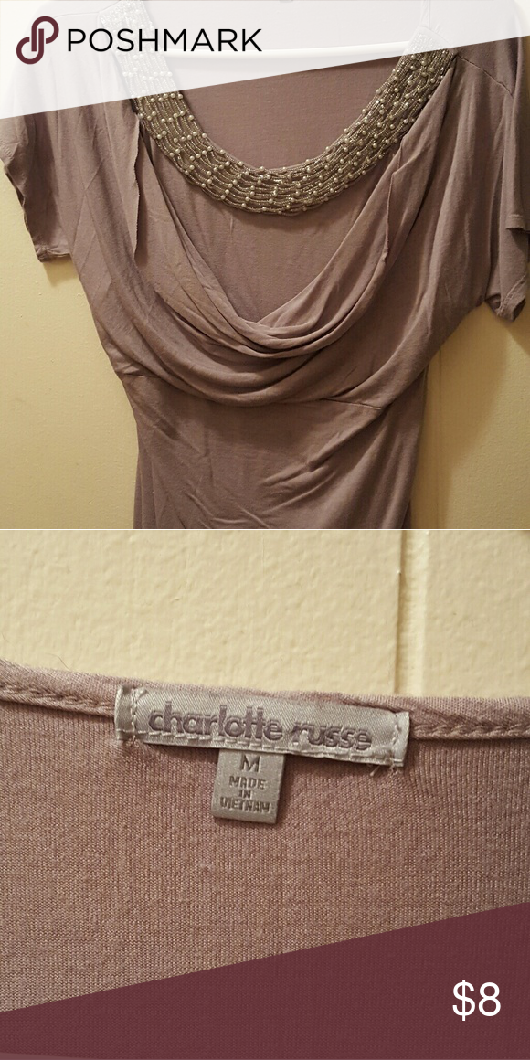 Charlotte Russe scoop neck, medium Rose type  color. Size medium. Used. Worn probably 2 - 3 times at most. Charlotte Russe Tops Blouses