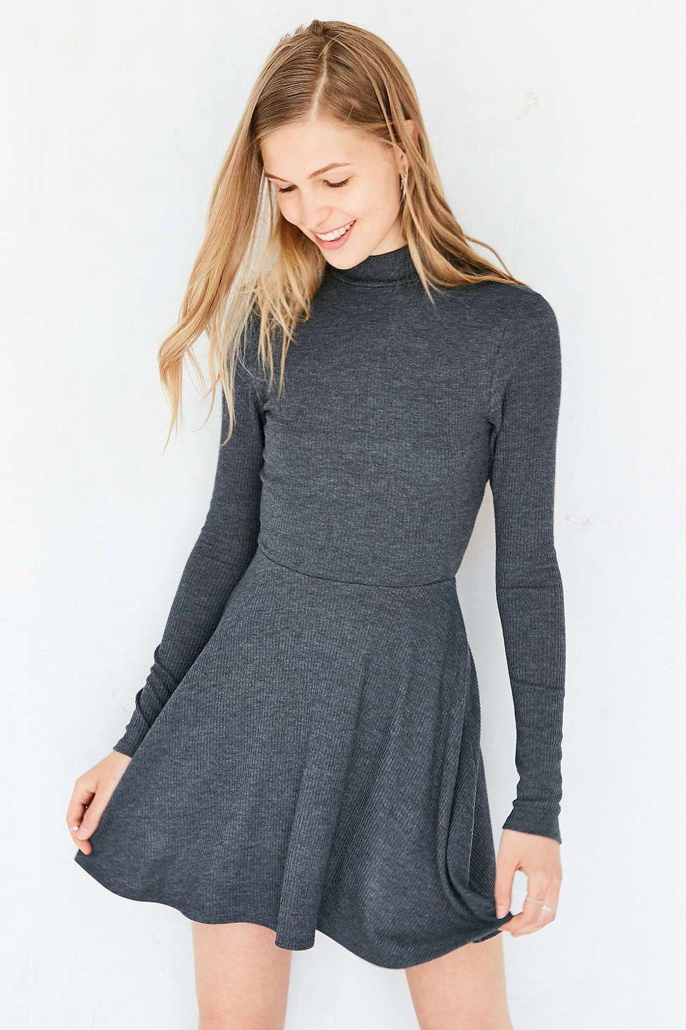 Silence noise openback mockneck mini dress urban outfitters