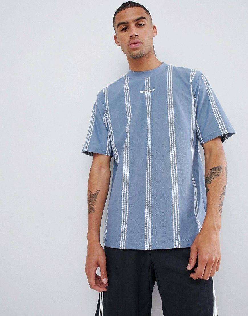 dcef8284c ADIDAS ORIGINALS EQT TENNIS STRIPE T-SHIRT IN BLUE DH5144 - BLUE.  #adidasoriginals #cloth #