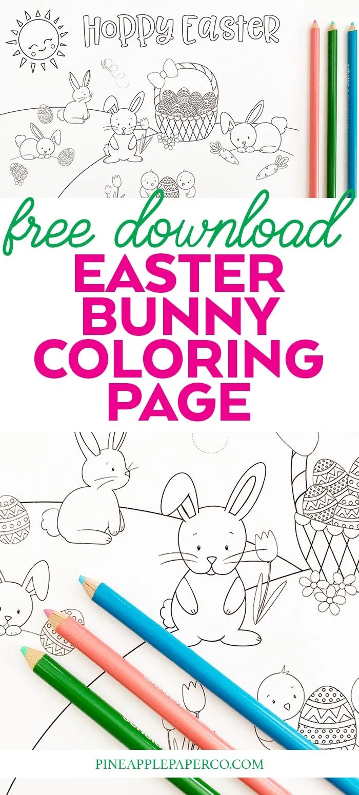 Printable Easter Bunny Coloring Page Bunny Coloring Pages Easter Bunny Colouring Easter Coloring Pages