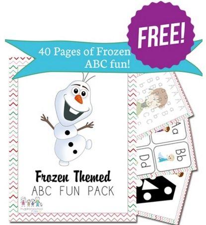 FREE 40-Page Frozen Themed ABC Pack Printable | Arte para niños ...