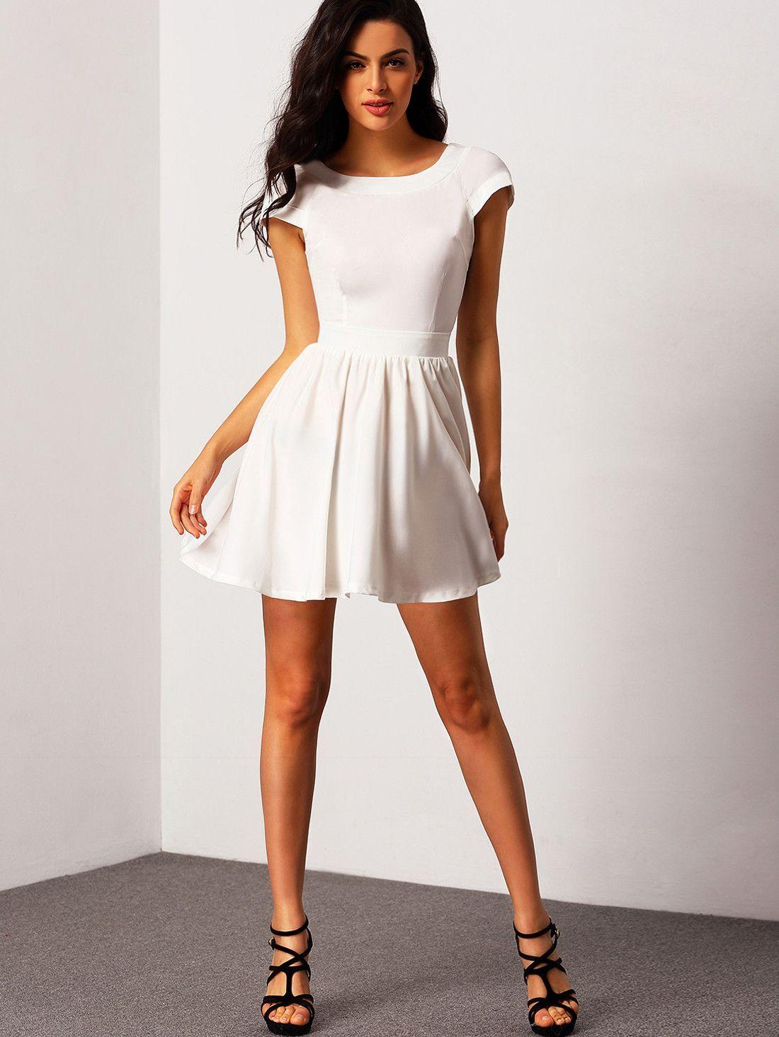 Short Sleeve White Dress All Dress