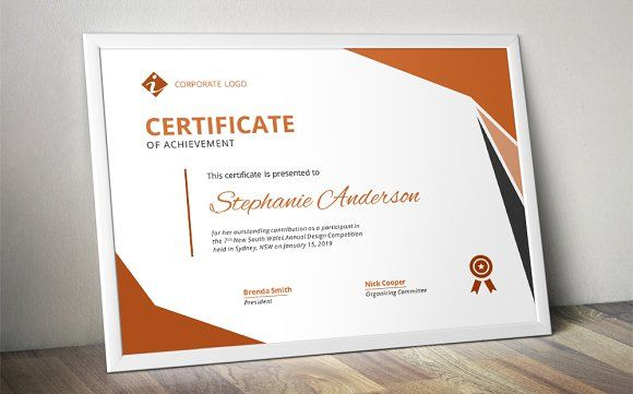 Modern MS Word certificate design Certificate design and - certificate designs templates