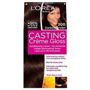 Casting Creme 300 Darkest Brown Semi Permanent Hair Dye..
