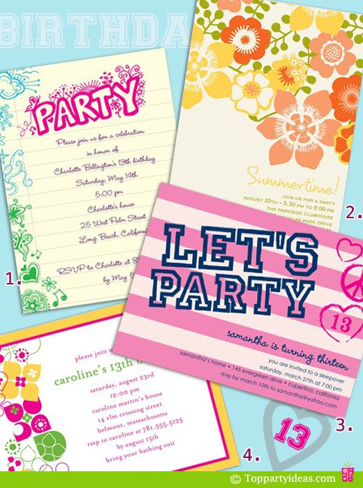 Birthday Party Invitation Ideas 13th Parties 13