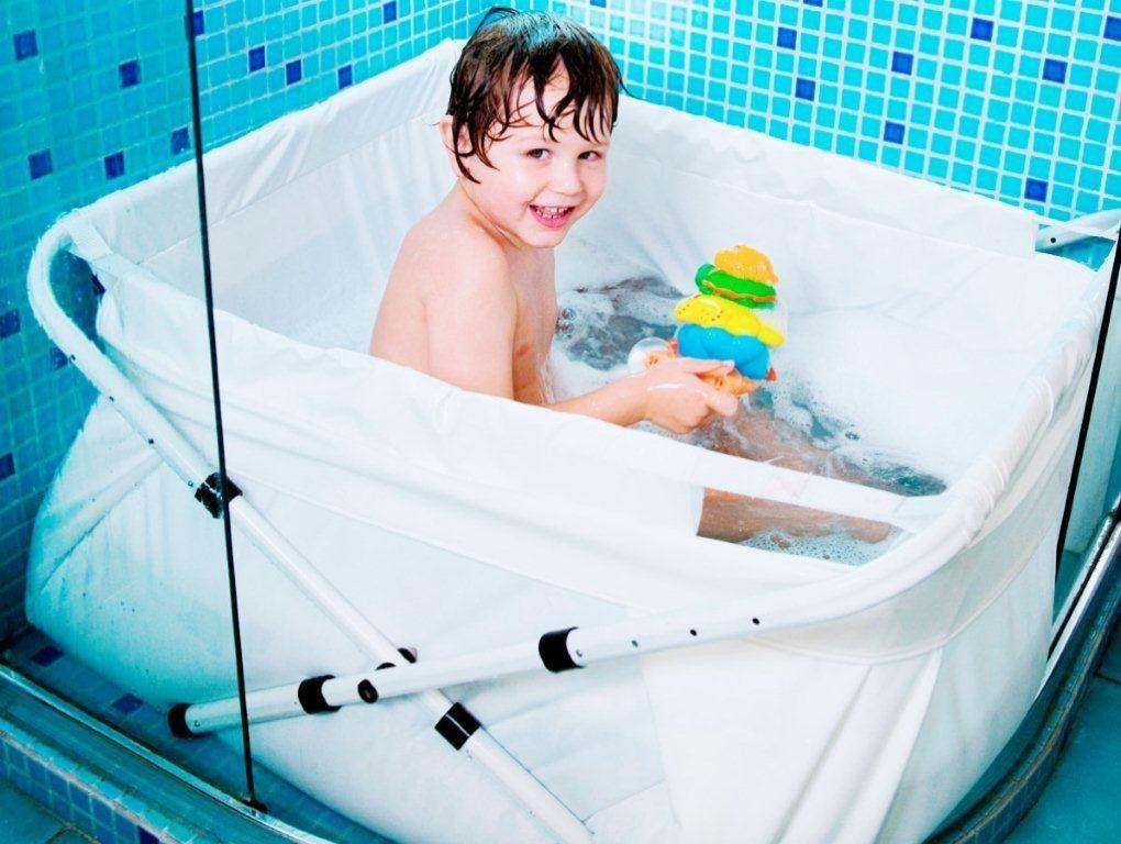 BiBaBad Babybadewanne Kinderbadewanne Faltwanne f/ür die Dusche Wei/ß 70-90 cm
