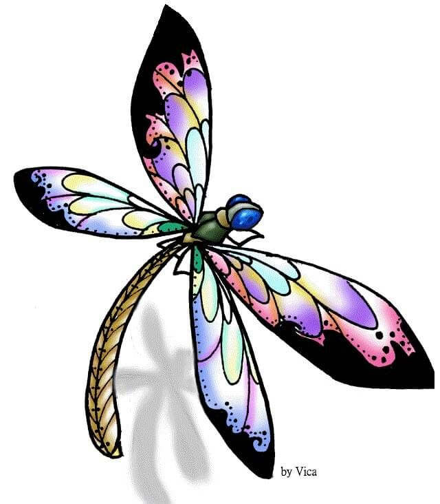 purple dragonfly drawing images galleries with a bite. Black Bedroom Furniture Sets. Home Design Ideas