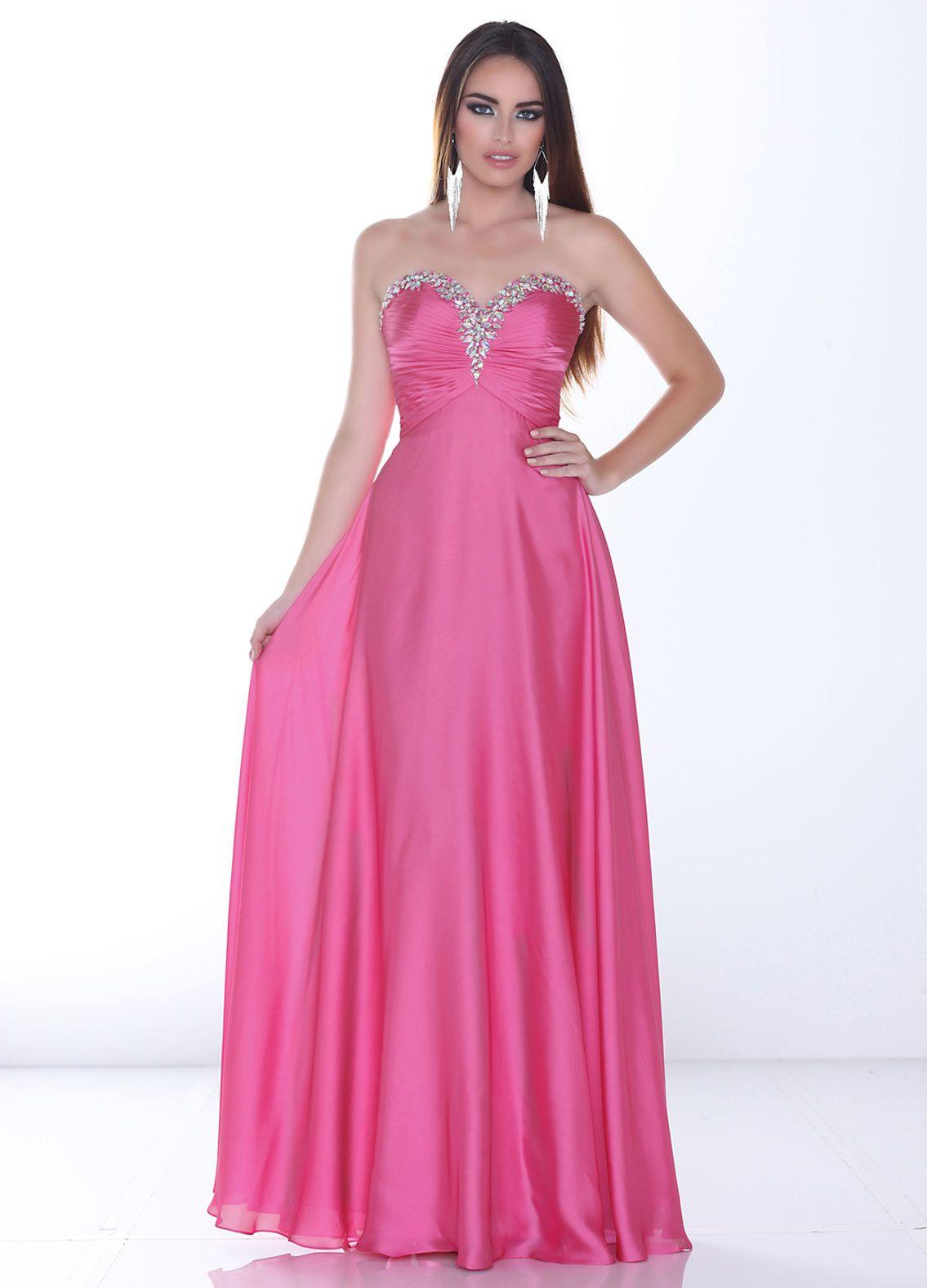 Moderno Vestido De Fiesta Houston Elaboración - Colección de ...