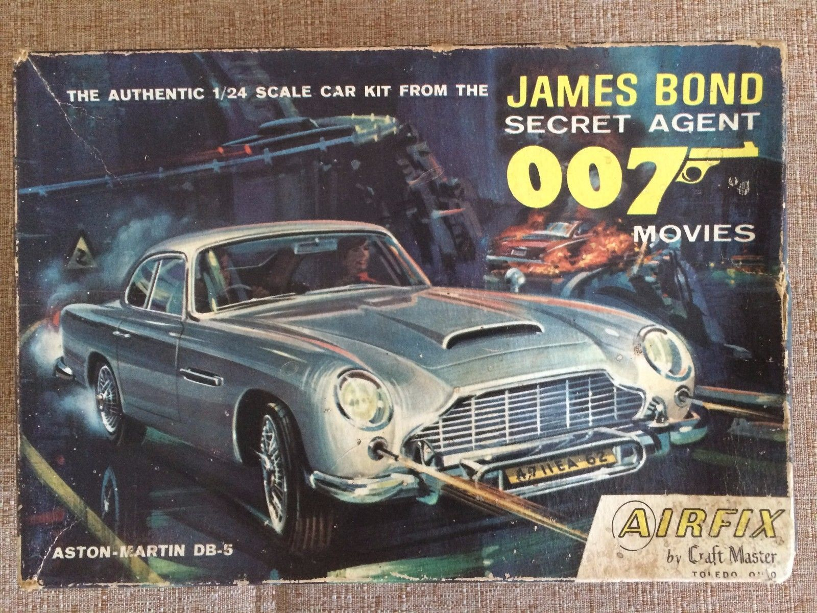 1/24 aston martin db5 james bond 007 (airfix) | aston martin db5