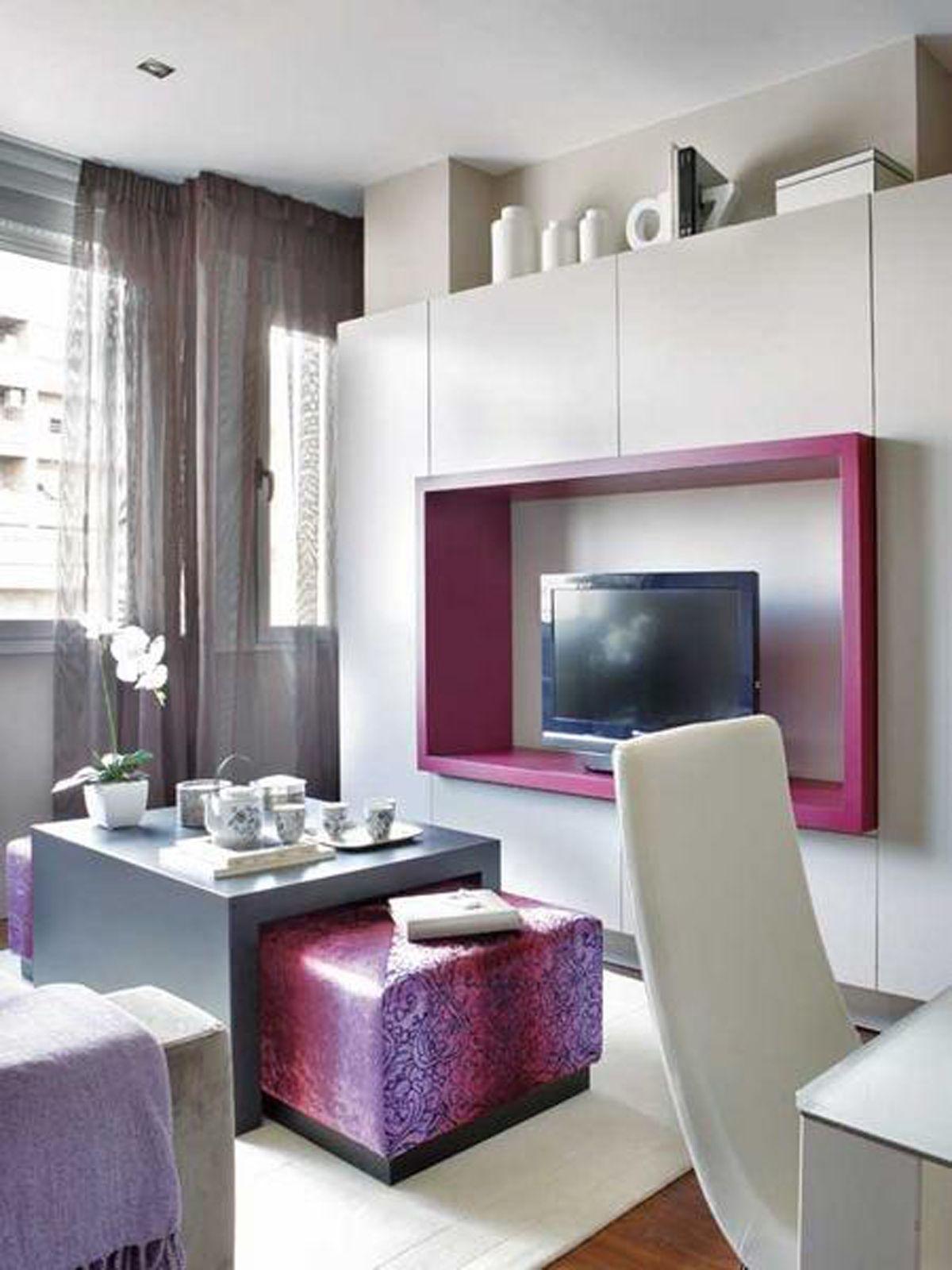 Interior of apartment with pink accents wohnideen fur kleine wohnungen also architektur pinterest studio rh za
