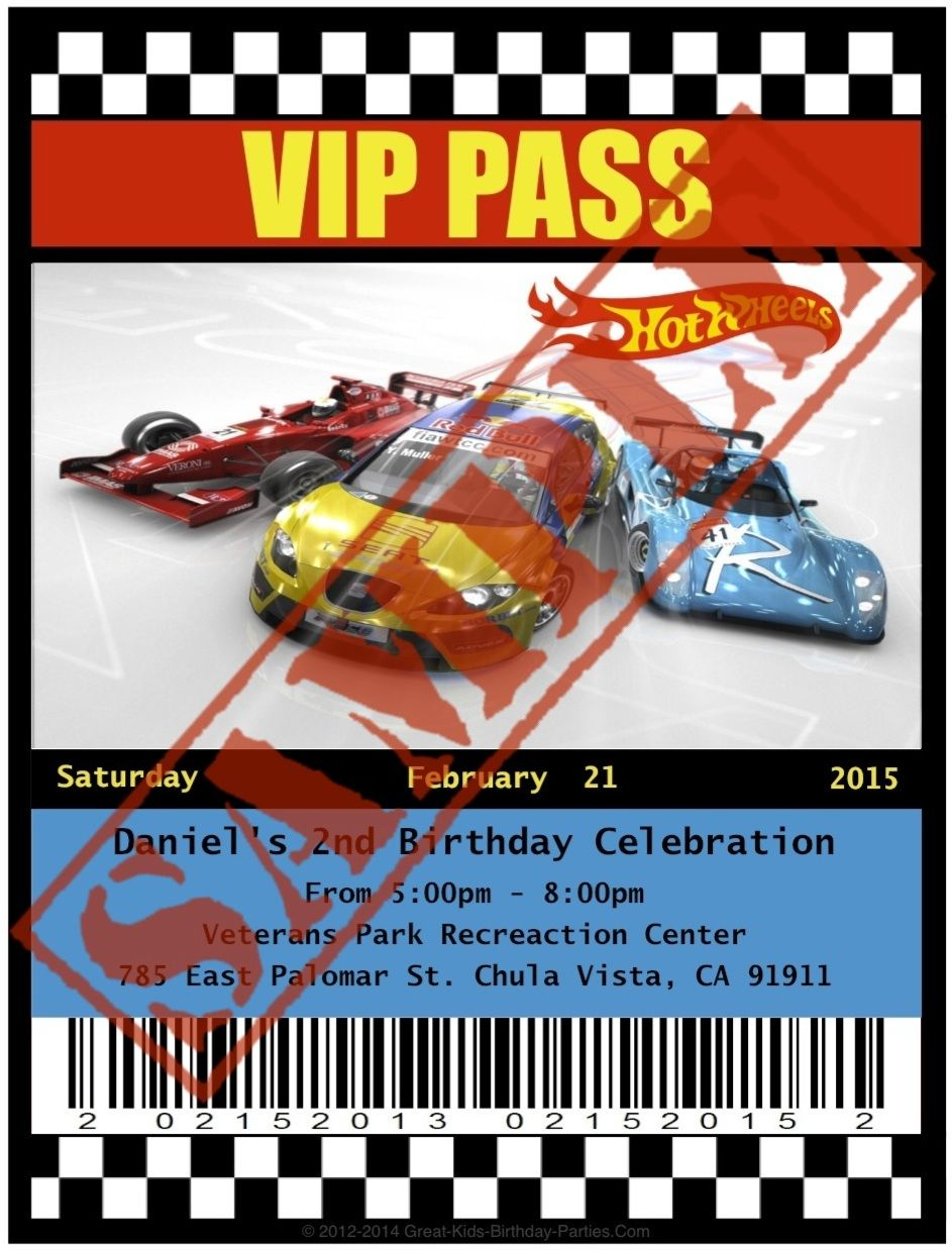 I had made his invites as VIP passes & placed them in lanyards so everyone can have fun with their passes :) #hotwheels #invitations