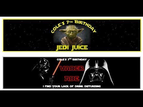 Star Wars Printable Tutorial 5 - Star Wars water bottle labels with MS Word