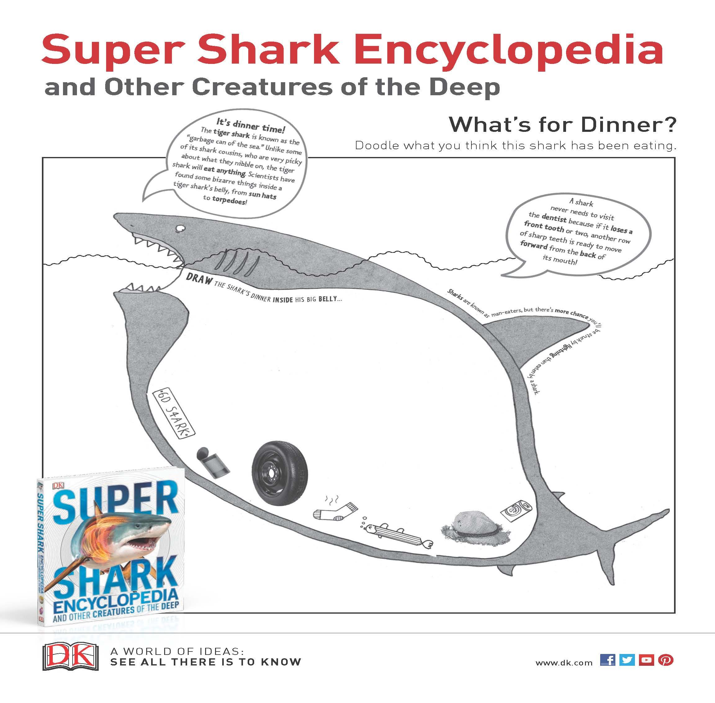 What S For Dinner Mr Shark A Fun Printable That Has You