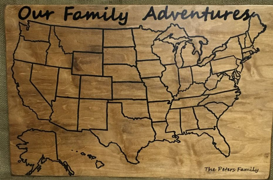 Travel Map Family Vacation USA Travel Map Personalized – Personalized Travel Map With Pins