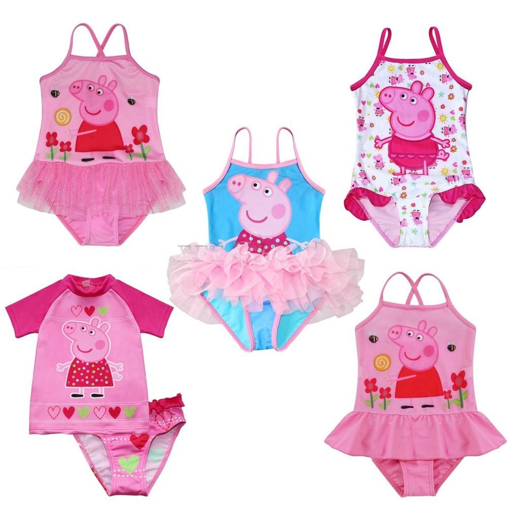cc747457f6 Girls Toddlers Peppa Pig Bikini Swimwear Rash Tankini Bathing Swim Suit  Costume  Fashion  OnePieceTwoPieceTankiniRashGuard