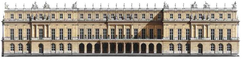 Versailles Watercolor Elevation Fivefoot Chateau Garden Home