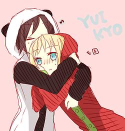 Yui X Kyoko Yuruyuri Cute Onesie Panda Tomato Shoujoai