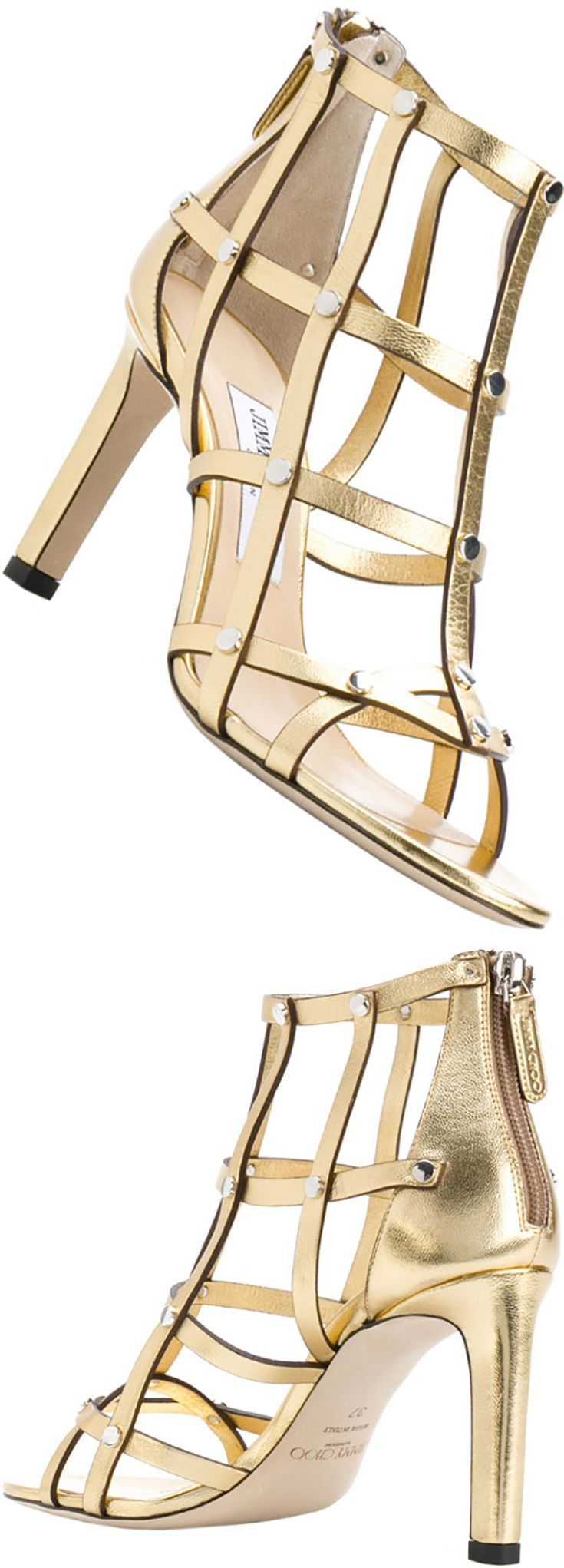 84498270c0f Jimmy Choo Tina 85 metallic leather sandals Channel a luxurious Roman vibe  in the Tina 85 sandals from Jimmy Choo with their gold metallic leather  crafting.