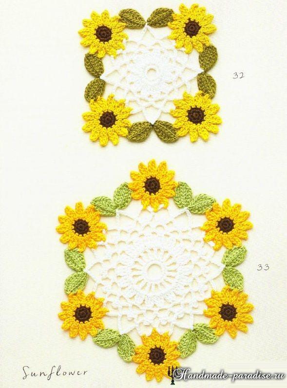 ромашки крючком схемы вязания Crochet Flowers вязание крючки и