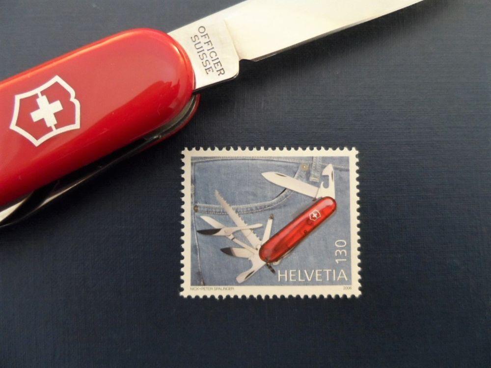 Swiss Post Stamp Victorinox Swiss Army Knife 2006