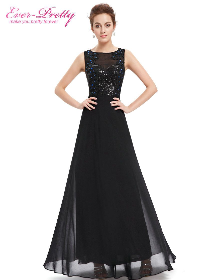 Clearance sale evening dresses women elegant oneck sequins ever