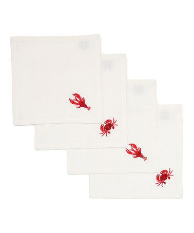 Take a look at this Lobster & Crab Cocktail Napkin Set by Design Imports on #zulily today!