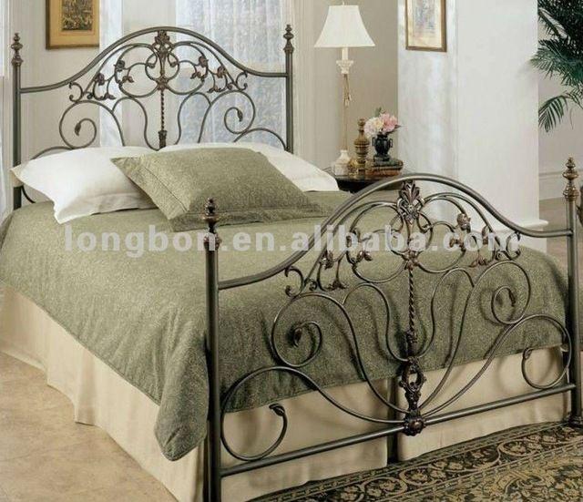 Top-venta diseño clásico cama de hierro forjado-en Camas de ...