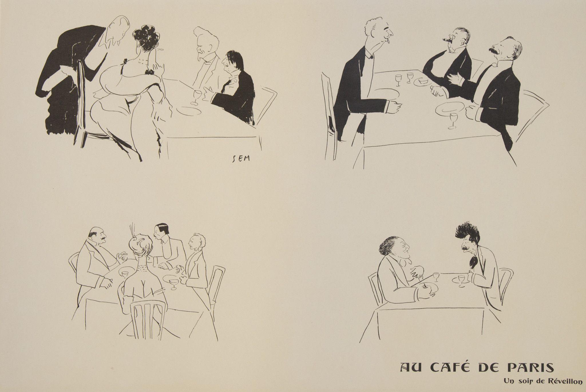 Au Cafe de Paris ~ Sem (Georges Goursat)
