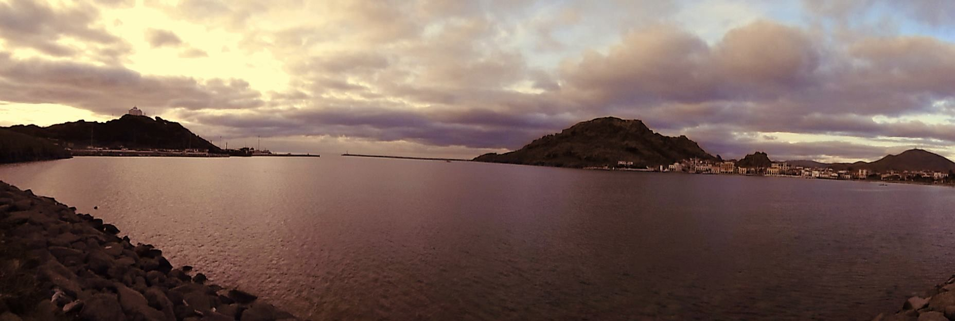 Ηλιοβασίλεμα Μύρινας Λήμνου - Sunset of Myrina Lemnos