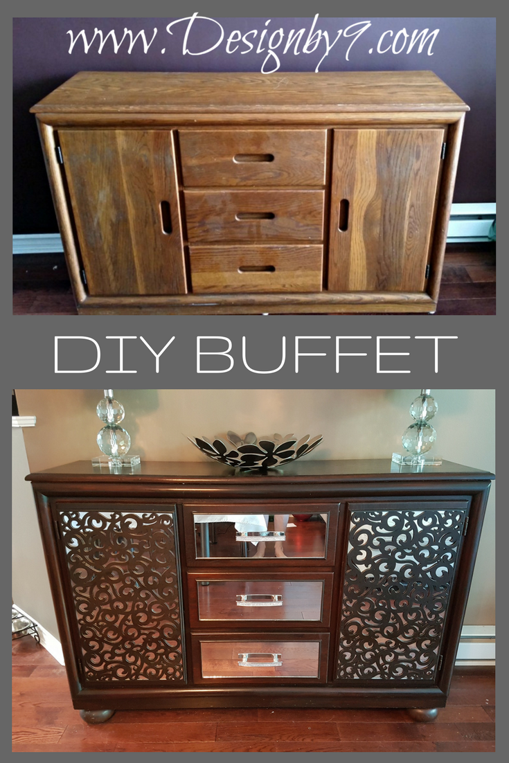How To Make A Mirrored Buffet From A Dresser Crafts Diy Mirrored
