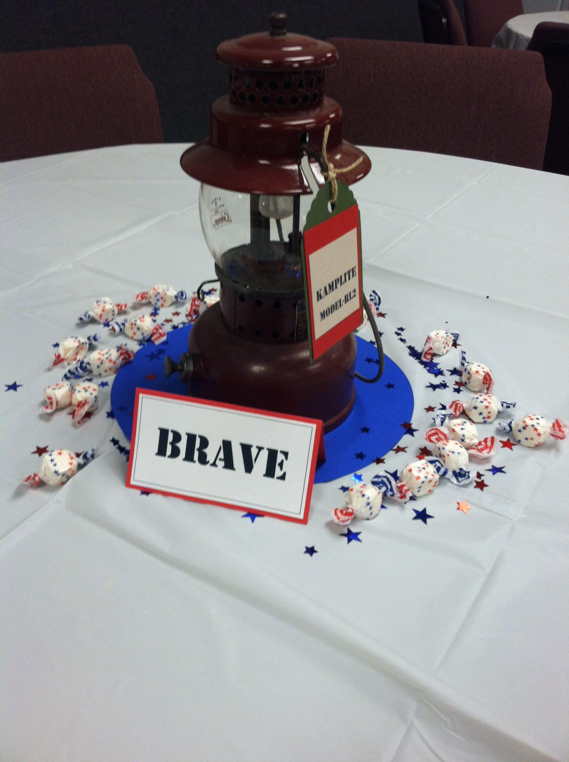 foto de Eagle table decorations Eagle scout Eagle Centerpieces