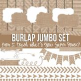 Burlap Jumbo Bundle Papers and Clipart