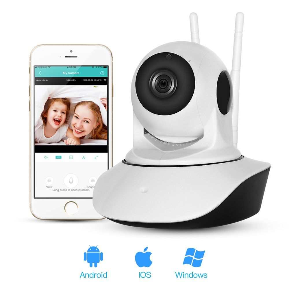 Abai Hd 720p Wireless Wifi Pet Baby Monitor Ip Security Surveillance Camera With Twoway Audio Infrared Night Vision Pan Tilt Zoom Vide Security Surveillance Wireless Home Security Systems Night Vision