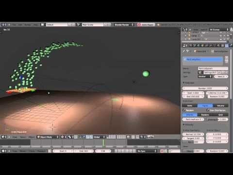 Blender 2 6 Tutorial Powerful Flowing Particle Effects Blender 3d Blender Tutorial Blender
