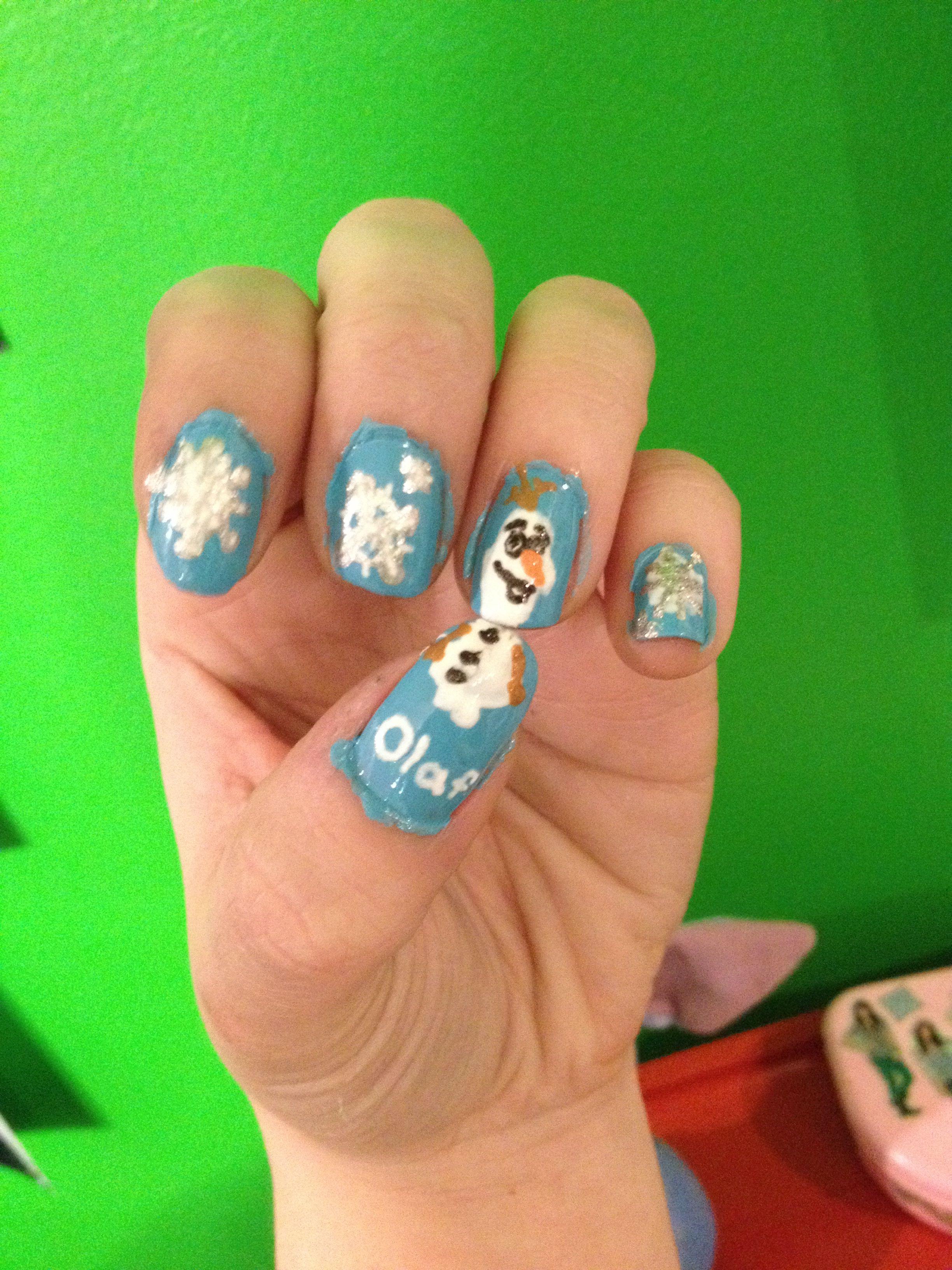 Disney\'s FROZEN Olaf nail design | Nailed It | Pinterest