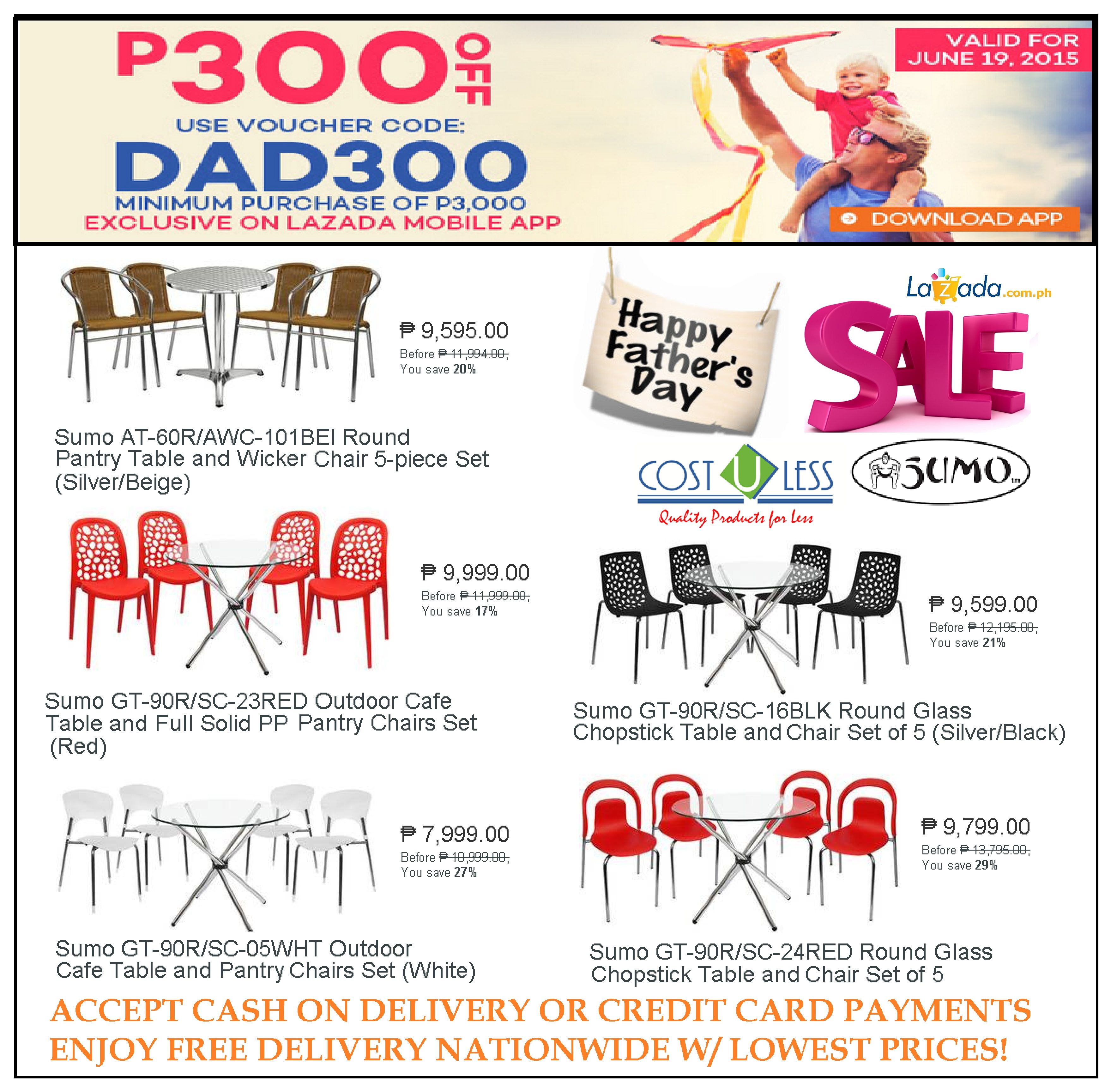 restaurant furniture sale lazada father s day promo save p300 00