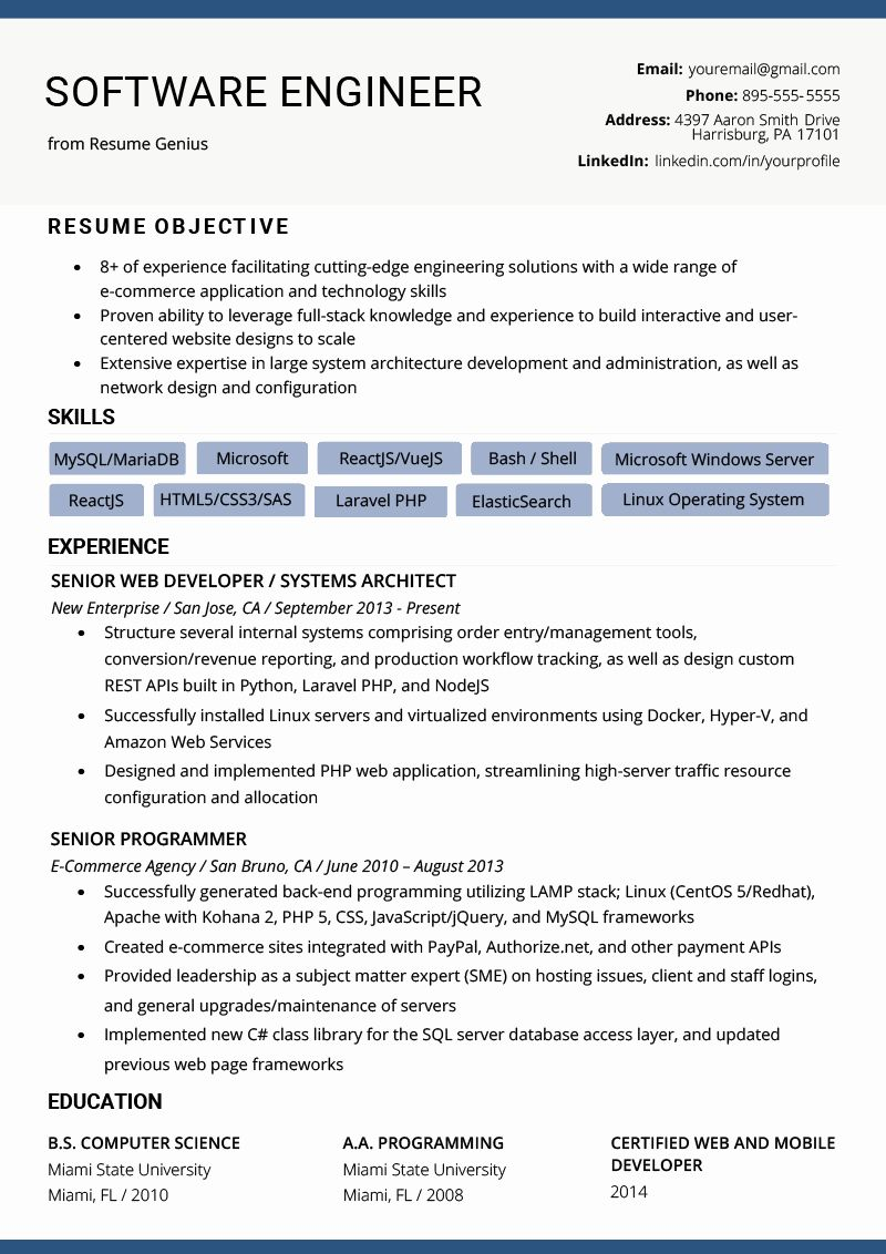 11+ Electrical engineer resume format in word Examples
