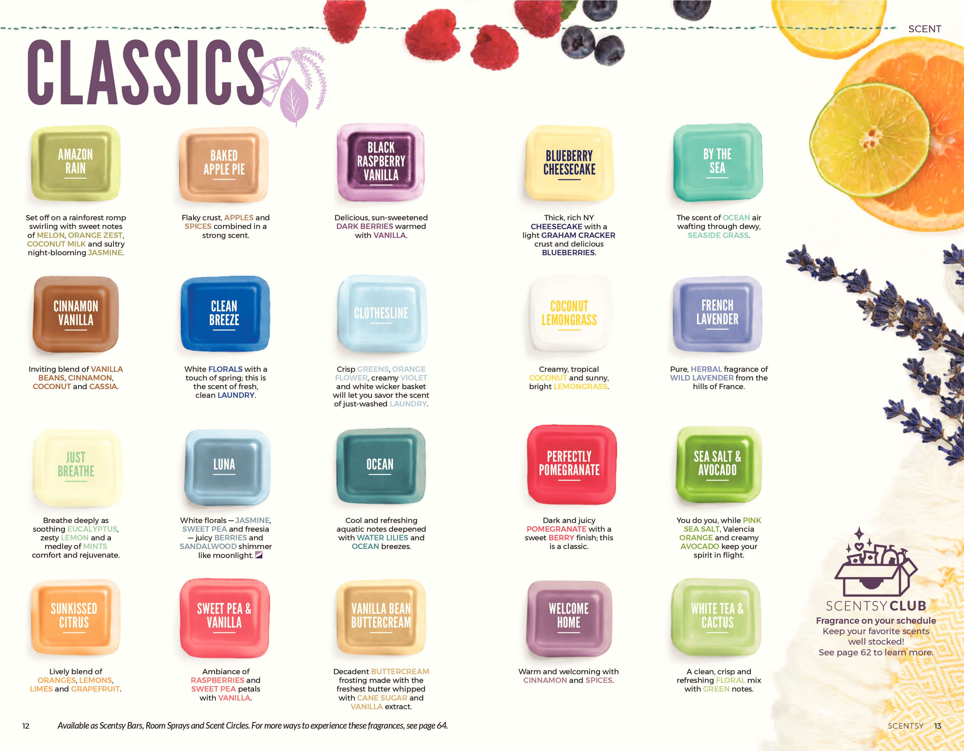 Scentsy Complete Scent List For Fall Winter 2018 2019 Scentsy Scentsy Scent Scentsy Wax Bars