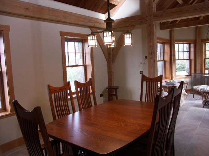 Mission Style Light With 4 Lanterns Hangs Above The Kitchen Table Interesting Country Dining Room Lighting 2018