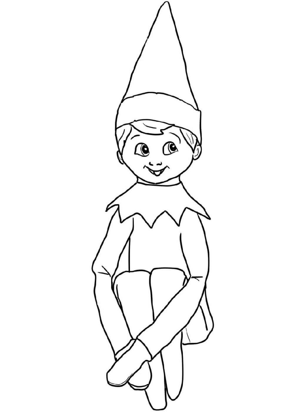 Elf On The Shelf Coloring Sheets Santa Coloring Pages Christmas