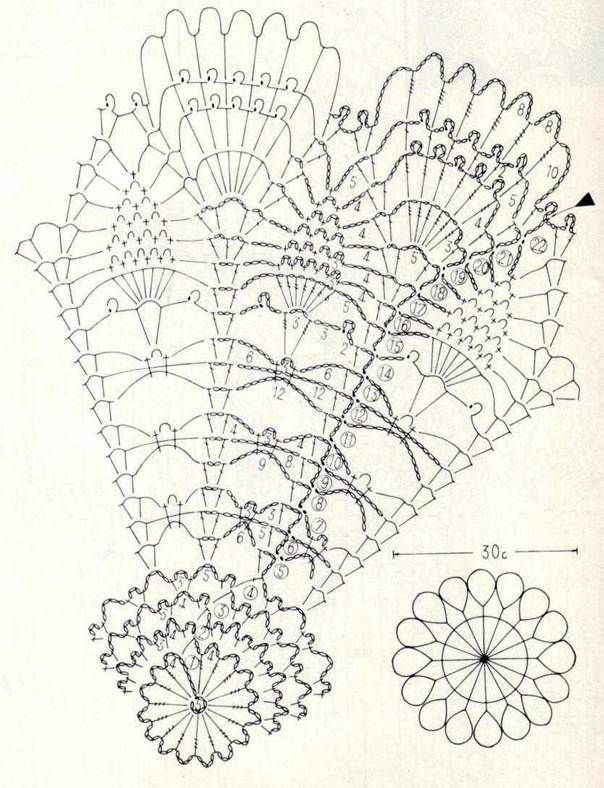Free Crochet Patterns of Table Center Poppies   Tapetes crochet ...